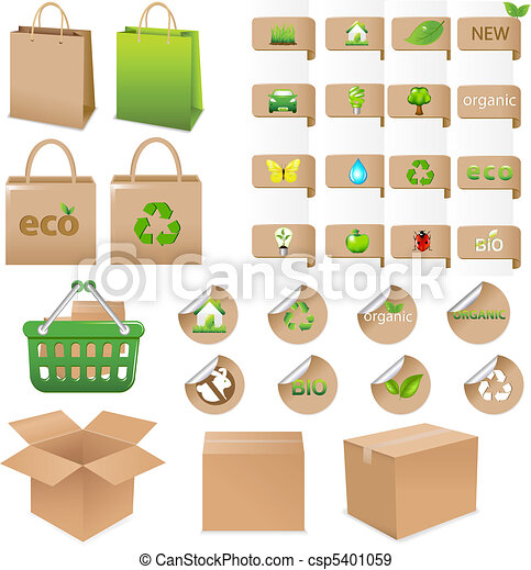 Set Of Ecological Container - csp5401059