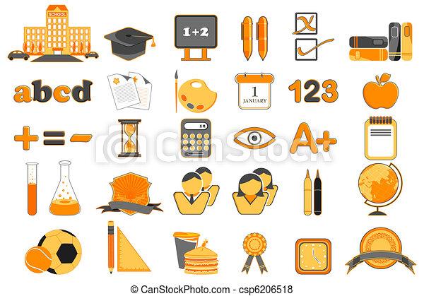 Set of Education Icon - csp6206518