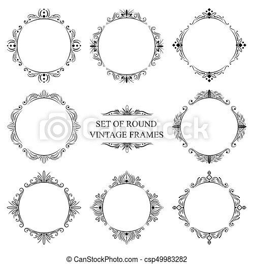 Set of eight decorative vintage frame. Set of eight decorative ...