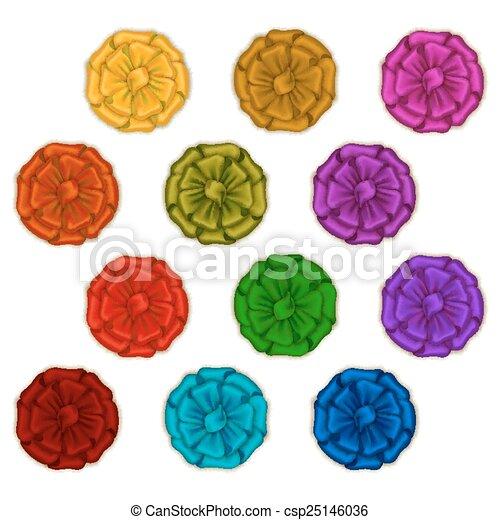 Set of elegant silk colored bows - csp25146036