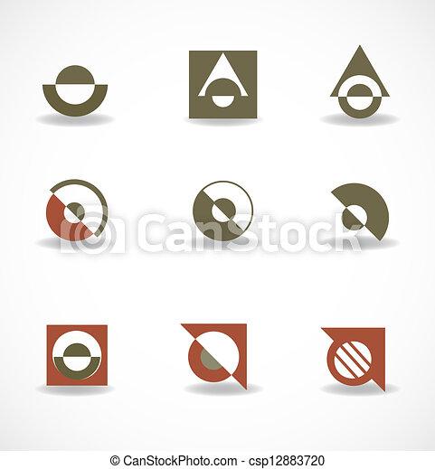 Set of elements for design - csp12883720