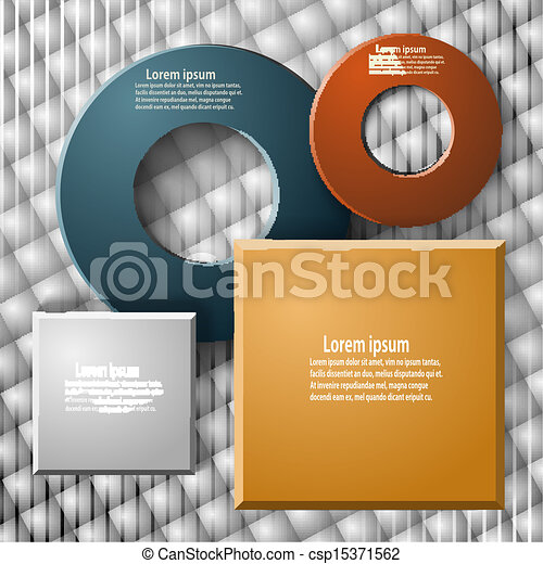 Set of elements for web design and infographics on a geometric background - csp15371562
