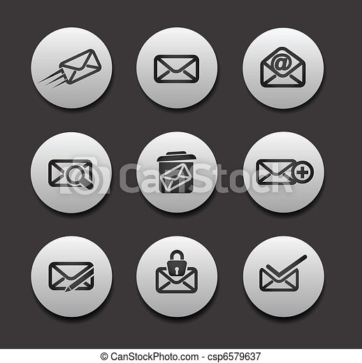 Set of Email Icons  - csp6579637