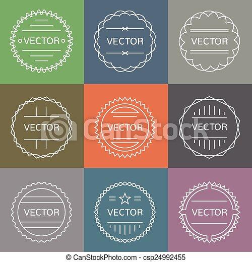 set of emblems and badges - csp24992455