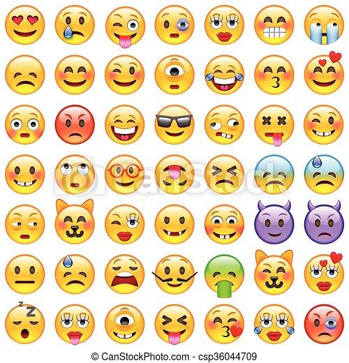 Set of Emoticons. Set of Emoji. Smile icons - csp36044709