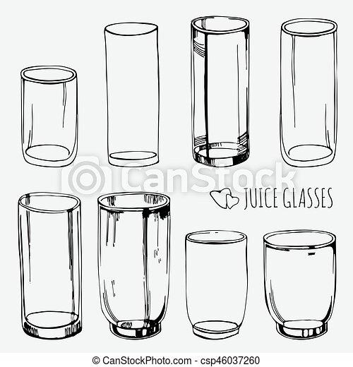 Water Glasses Clip Art