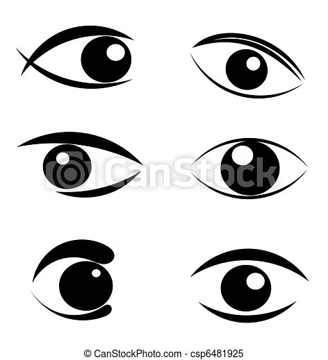Set of eyes symbols - csp6481925