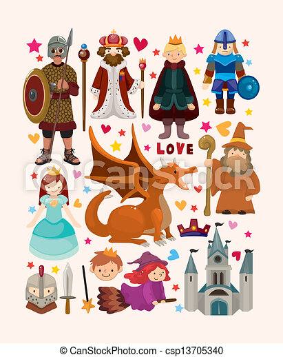 set of fairy tale element icons - csp13705340
