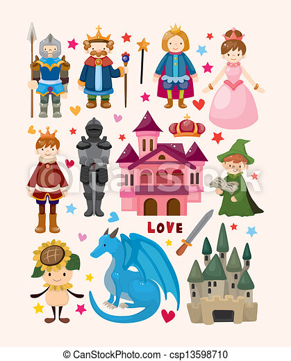 set of fairy tale element icons - csp13598710