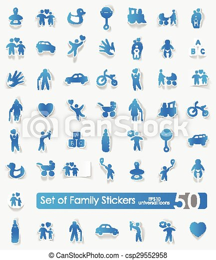 Set of family stickers - csp29552958