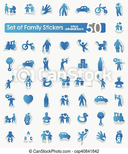 Set of family stickers - csp40841842