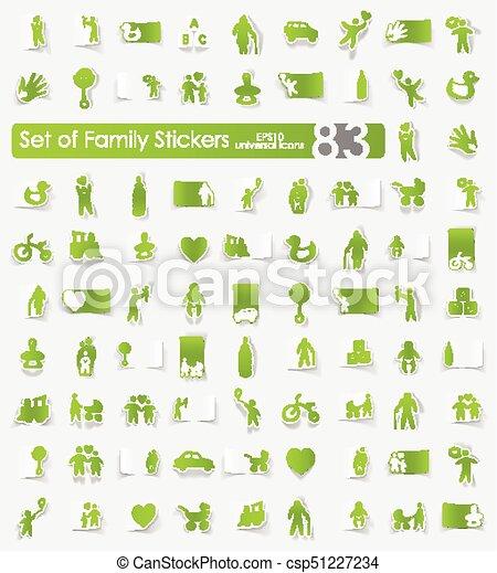 Set of family stickers - csp51227234