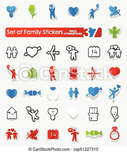 Set of family stickers - csp51227310