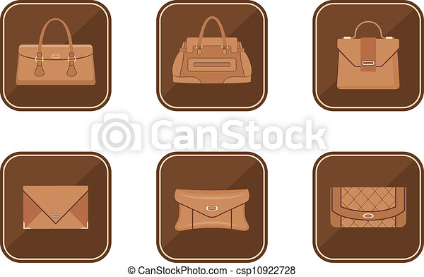 Set of fashion icons with bags - csp10922728