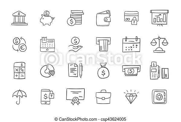 Set of finance and business icons - csp43624005