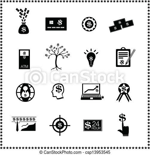 set of Finance icons - csp13953545