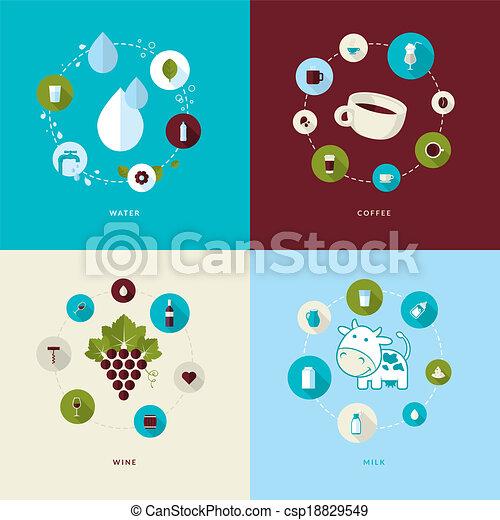 Set of flat design concept icons - csp18829549
