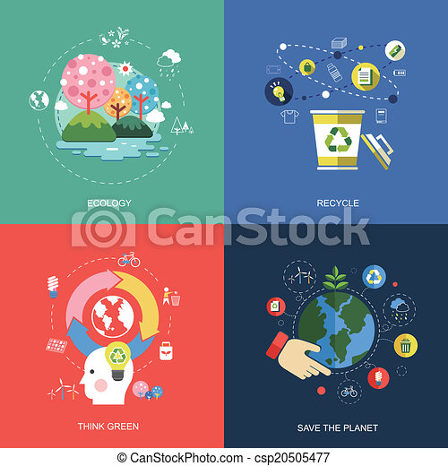 set of flat design concept icons - csp20505477