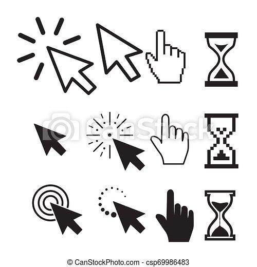 Set of flat modern cursor icons - csp69986483