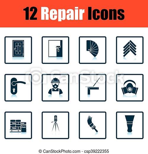Set of flat repair icons - csp39222355
