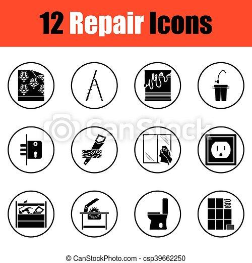 Set of flat repair icons - csp39662250