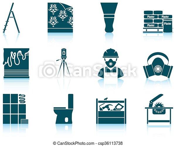 Set of flat repair icons - csp36113738