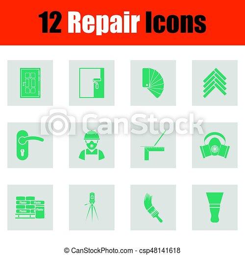 Set of flat repair icons - csp48141618