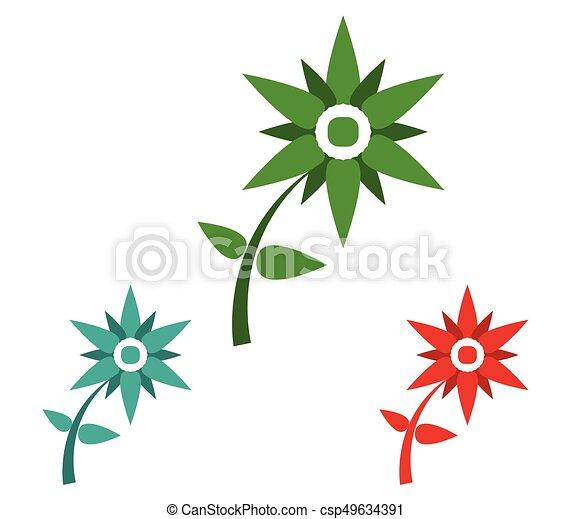 Set of flowers - csp49634391