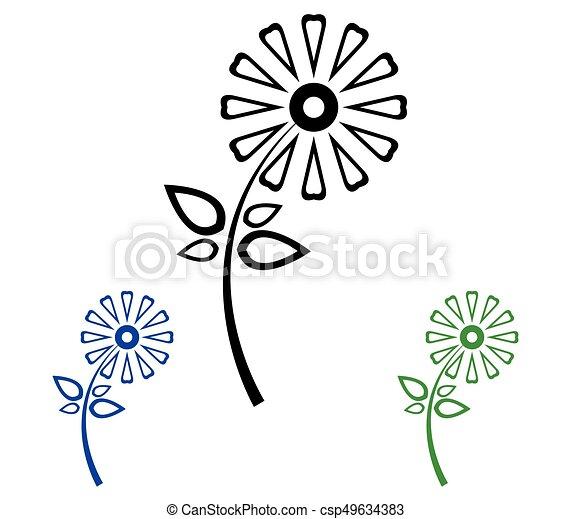 Set of flowers - csp49634383