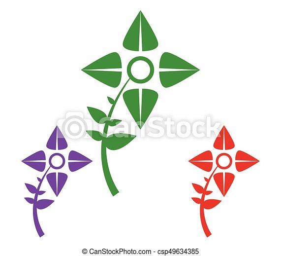 Set of flowers - csp49634385