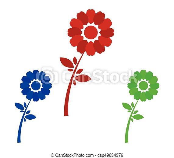 Set of flowers - csp49634376