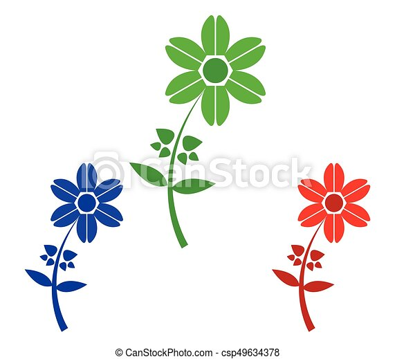 Set of flowers - csp49634378