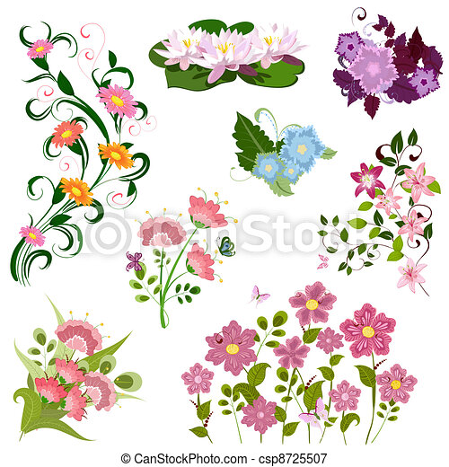set of flowers - csp8725507
