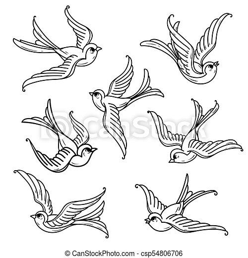 Set Of Flying Bluebirds Free Birdsmbol Of Hope Set Of Flying