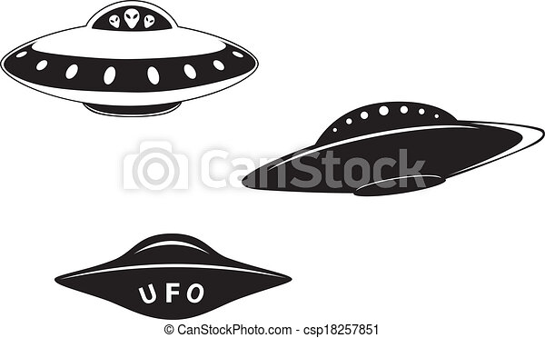 set of flying saucers set of abstract elemental vector clipart rh canstockphoto com free flying saucer clipart flying saucers clip art
