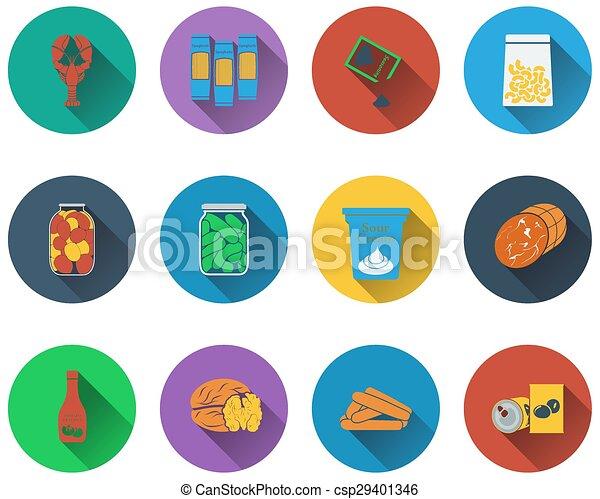 Set of food icons - csp29401346