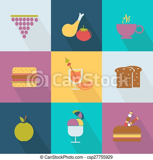 Set of food icons - csp27755929