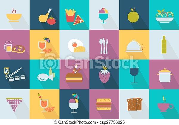 Set of food icons - csp27756025