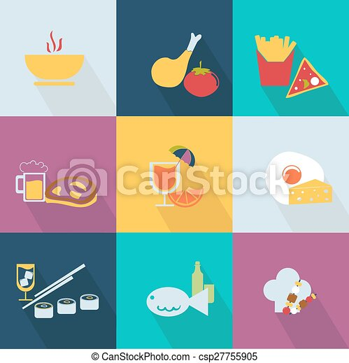Set of food icons - csp27755905