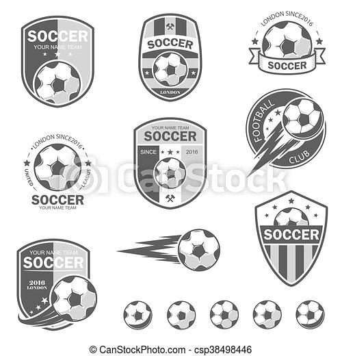 Set of football logos. - csp38498446
