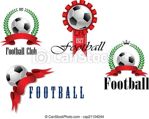 Set of football or soccer emblems - csp21104244