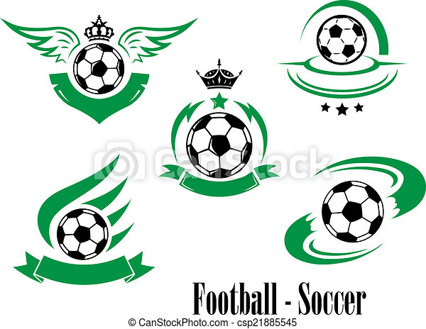 Set of football or soccer emblems - csp21885545