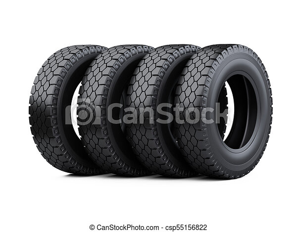 Big Truck Tires >> Set Of Four Big Vehicle Truck Tires Stacked New Car Wheels