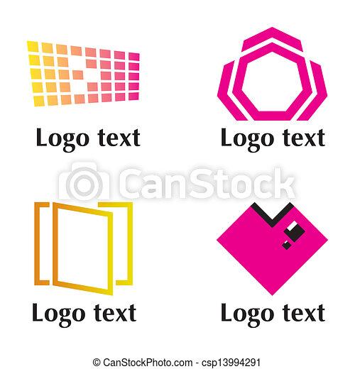 Set of four logo - csp13994291