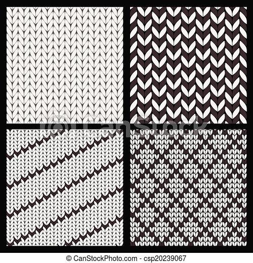 Set of four seamless knitting patterns csp20239067