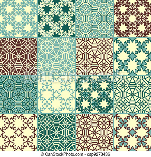 set of four vector seamless patterns - csp9273436