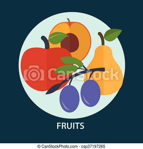 Set of fresh fruit for your design - csp37197265