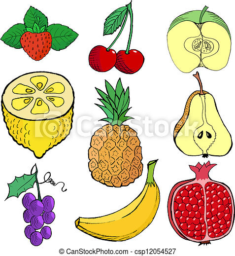 Set of fruits - csp12054527