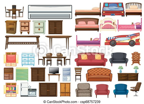 Set of funiture objects - csp68757239
