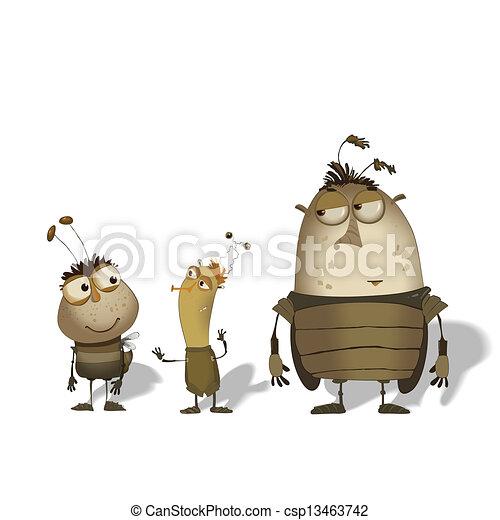 set of funny cartoon bugs - csp13463742